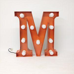 orange carnival letter m
