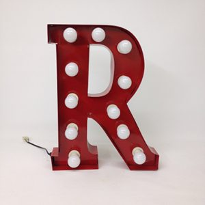 red carnival letter r