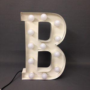 white carnival letter b handmade steel