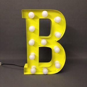 yellow carnival letter b handmade steel