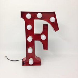 vintage style carnival letter f