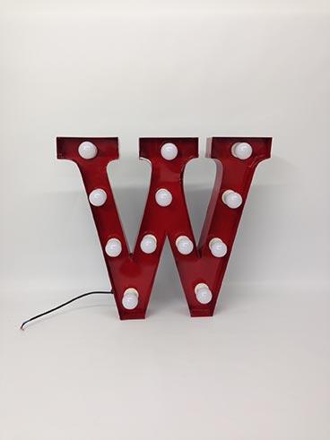 vintage style carnival letter w