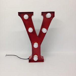 vintage style carnival letter y
