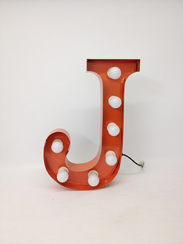 orange j marquee letter