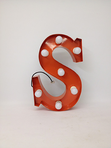 orange s marquee letter