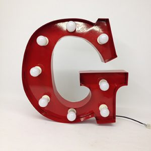 red g marquee letter