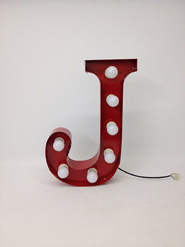 red j marquee letter