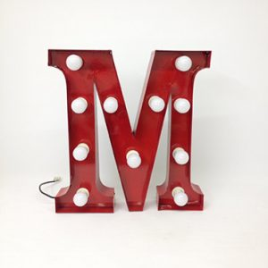 red carnival letter m
