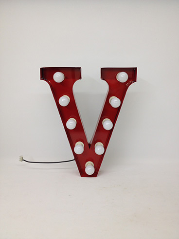 red v marquee letter