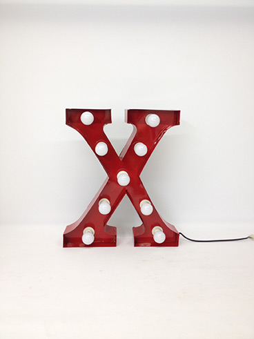 red x marquee letter