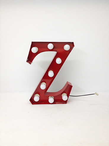 red z marquee letter
