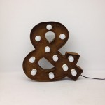 rusty ampersand marquee letter