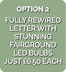 marquee letter with cheap cabachon leds