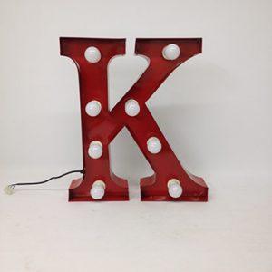 vintage style carnival letter k
