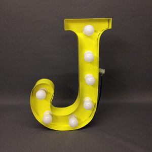 yellow j carnival letter