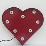 red steel handmade illuminated heart