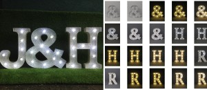 any old letters supply illuminated letters, light up letters and letter lights and ship nationwaide and internationally. We also supply wedding lighting and wedding letter hire as well as light up love sign for sale and hire in cornwall and devon.