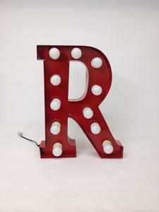 red carnival letter r