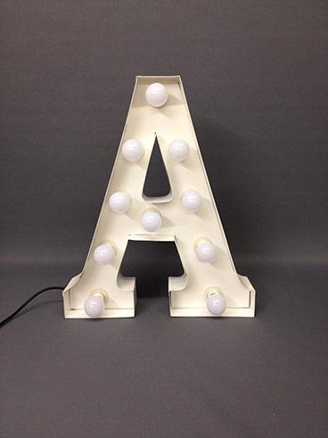 illuminated letter a