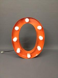 orange marquee letter o