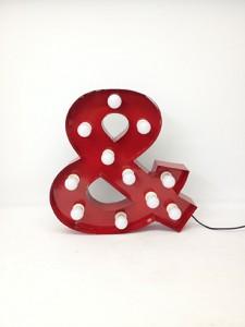 red ampersand carnival letter
