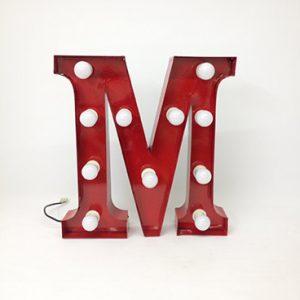 red carnival letter m