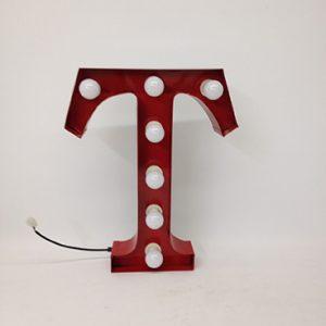 red t carnival letter